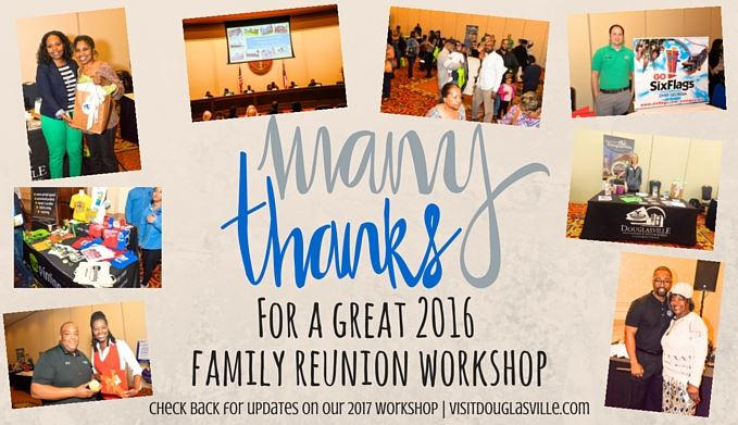 2016 Family Reunion Thank you card